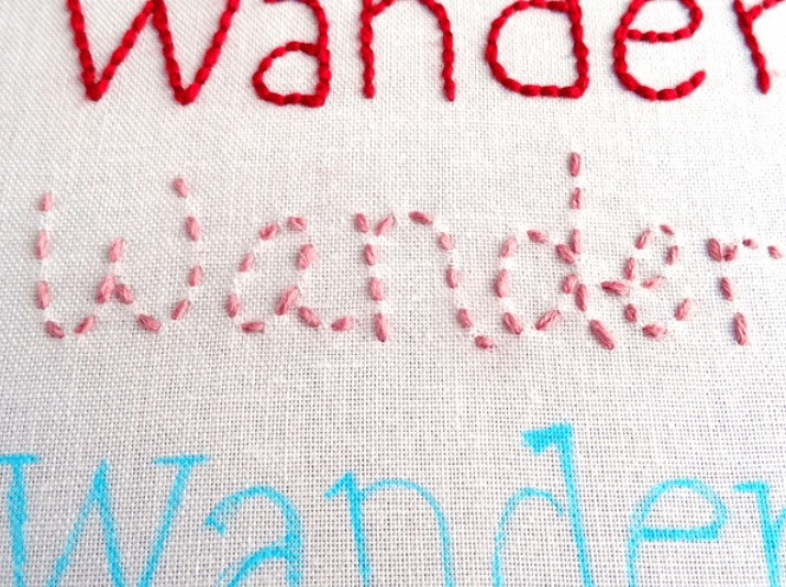 complete hand embroidery letters
