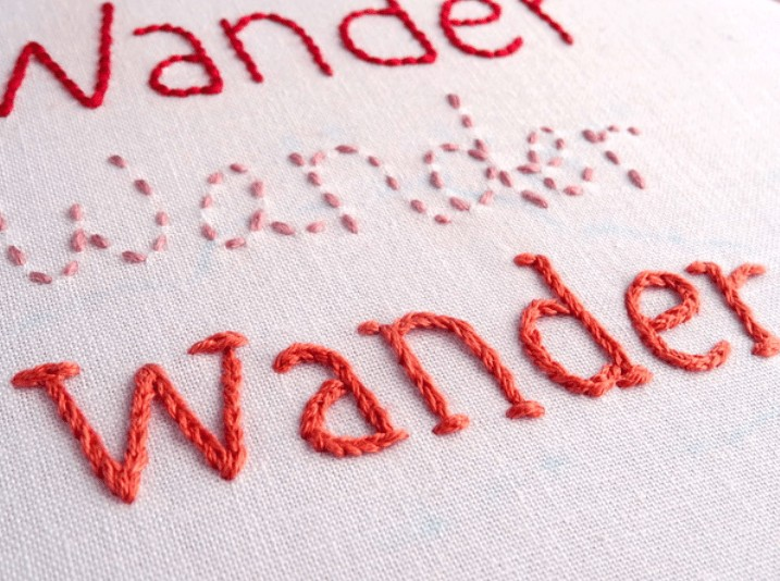 best hand lettered embroidery font