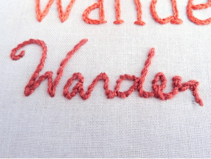 how to hand stitch letters onto fabric