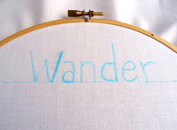 back stitch font