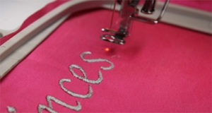 how to embroider letters with a sewing machine