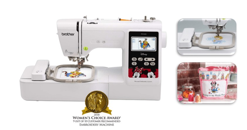 best home embroidery only machine for disney designs