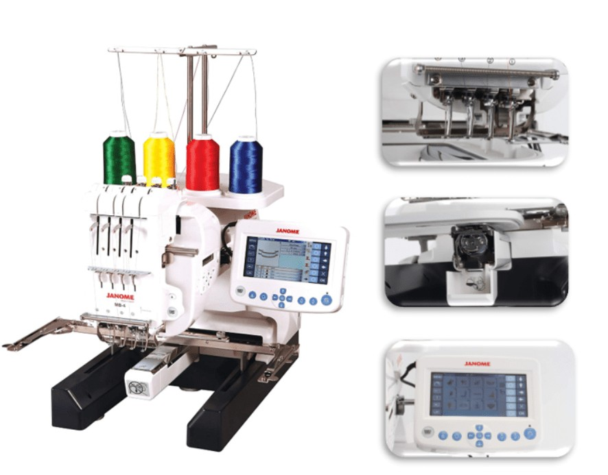 hat embroidery machine with sewing feature