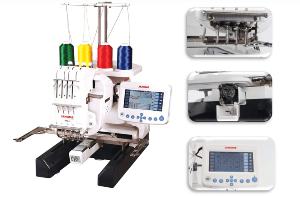 best hat embroidery machine for custom designs - janome mb4s