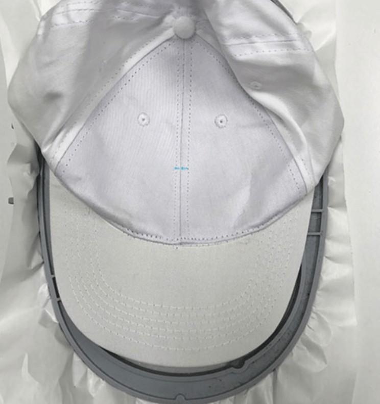hat embroidery hoop preparing