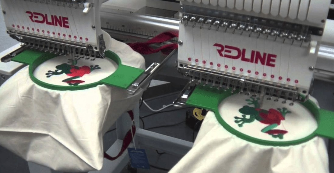 Redline embroidery machine brand