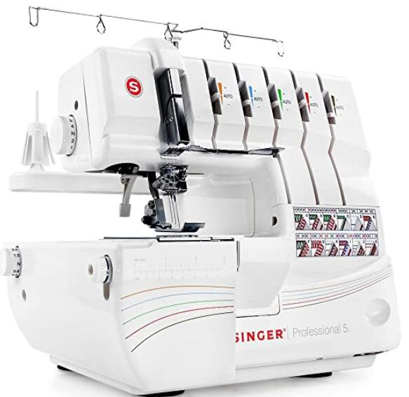 Serger overlock sewing machine with self adjusting