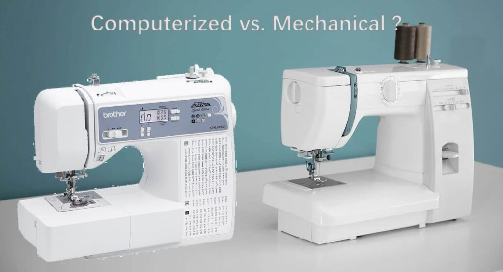 difference betweencomputerized or mechanical sewing machine