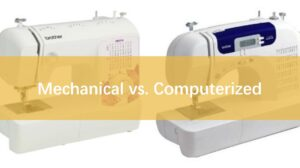 differences between computerized and mechanical sewing machine