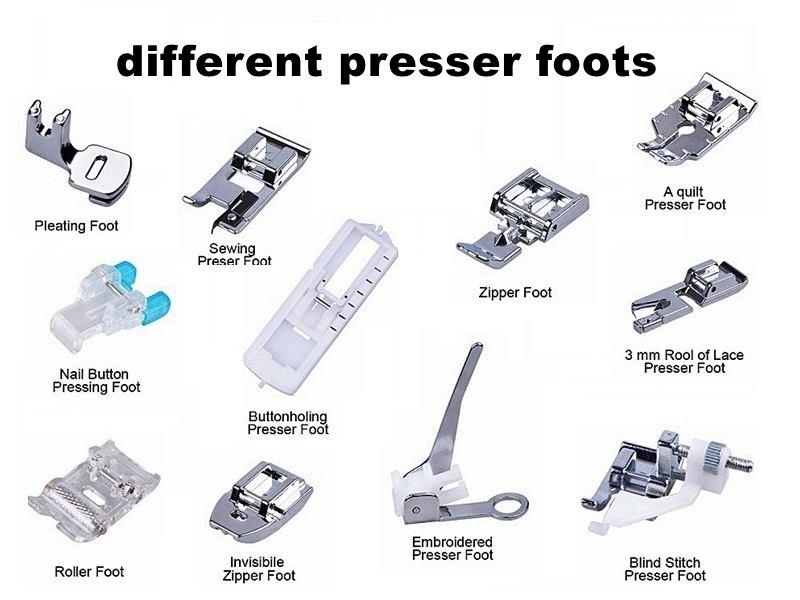 most-used presser feet