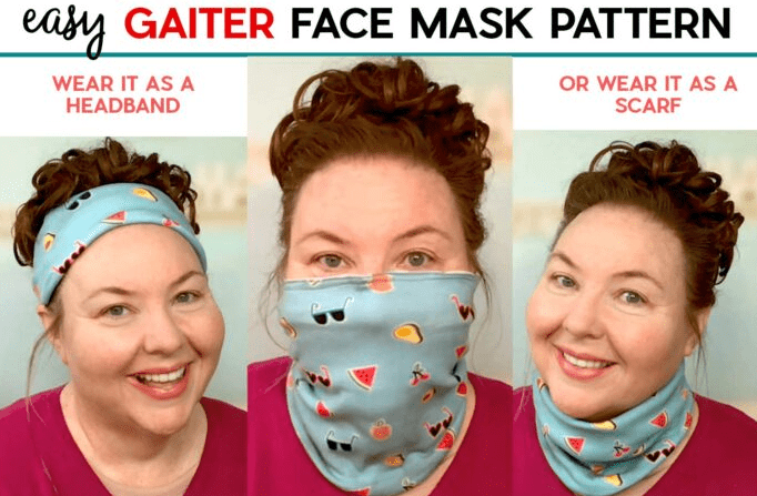 how to sew neck gaiter mask