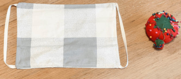 how to sew plated rectangular face mask